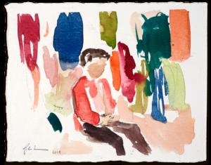 Aziz | Aquarell auf Büttenpapier | circa 13 x 17 cm | 2018