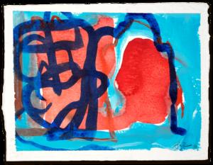 Vor dem Tor | Aquarell auf Büttenpapier | circa 13 x 17 cm | 2018