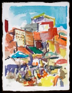 Café des Éspices | Aquarell auf Büttenpapier | circa 13 x 17 cm | 2018