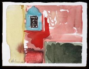 Fenster mit Gitter | Aquarell auf Büttenpapier |circa 13 x 17 cm | 2018