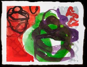 Körbe | Aquarell auf Büttenpapier | circa 13 x 17 cm | 2018
