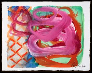 Geflochtener Korb | Aquarell auf Büttenpapier | circa 13 x 17 cm | 2018