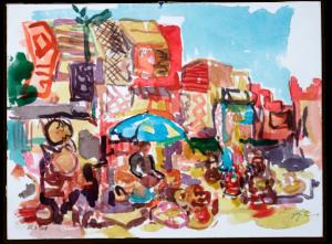 Place des Éspices | Aquarell auf Büttenpapier | circa 13 x 17 cm | 2018